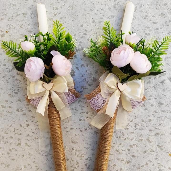 Декорирани свеќи за свадба