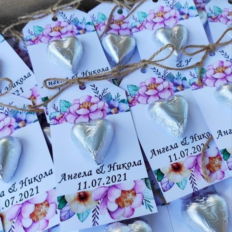 Картички со чоколатца за свадба