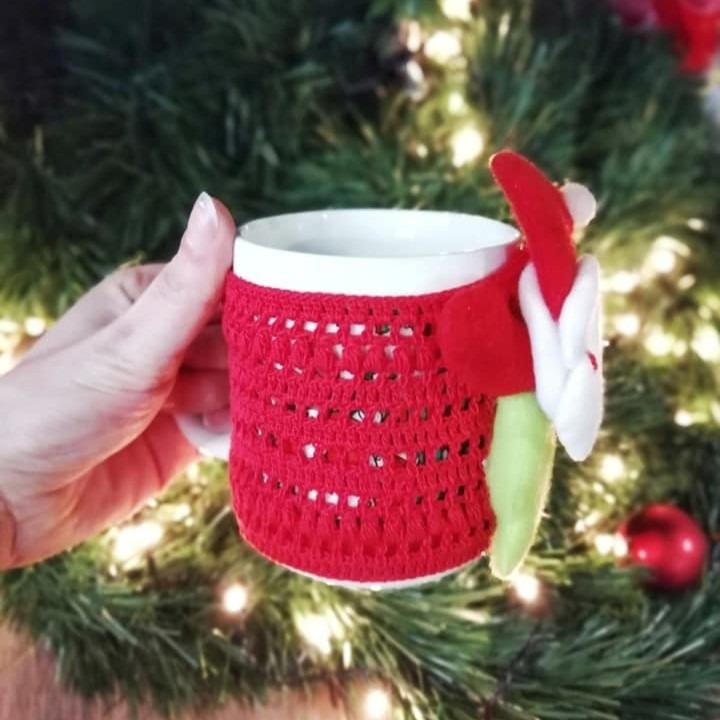 Новогодишна чаша со плетена обвивка